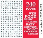 set of 240 stylish icons   web  ... | Shutterstock .eps vector #253114024