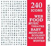 set of 240 stylish icons   web  ... | Shutterstock .eps vector #253114024