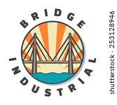 industrial bridge logo design.... | Shutterstock .eps vector #253128946