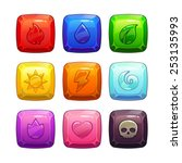 colorful square gem stones with ...