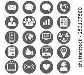 media and communication icons....