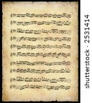 vintage music sheet  with... | Shutterstock . vector #2531414