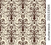 vector damask seamless pattern... | Shutterstock .eps vector #253153504