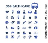 36 health care  medicine ... | Shutterstock .eps vector #253153750