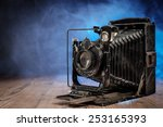 retro vintage photocamera on... | Shutterstock . vector #253165393