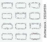 caligraphic outline frames ... | Shutterstock .eps vector #253169554