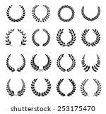 Vector Laurel Wreath Flora...