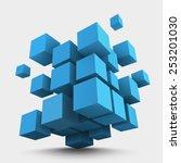 abstract vector illustration.... | Shutterstock .eps vector #253201030