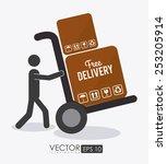 delivery design over white... | Shutterstock .eps vector #253205914