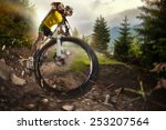 sport. mountain bike cyclist... | Shutterstock . vector #253207564