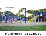 colorful playground with... | Shutterstock . vector #253228366