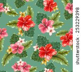 floral seamless pattern  vector ... | Shutterstock .eps vector #253229398