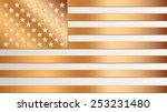 united states bronze  flag... | Shutterstock .eps vector #253231480