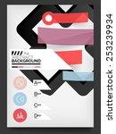 flyer  brochure design template ... | Shutterstock .eps vector #253239934