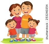 happy family | Shutterstock .eps vector #253240354