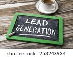 lead generation handwritten on... | Shutterstock . vector #253248934
