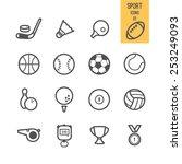 sport icons. vector... | Shutterstock .eps vector #253249093