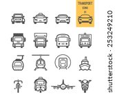 transportation icons. vector... | Shutterstock .eps vector #253249210