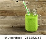 healthy green smoothie in a... | Shutterstock . vector #253252168