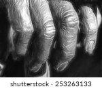 elderly fingers   Shutterstock . vector #253263133