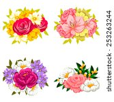 flower set | Shutterstock .eps vector #253263244