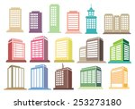 collection of modern city... | Shutterstock .eps vector #253273180