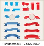 set of ribbons.ribbon banner... | Shutterstock .eps vector #253276060