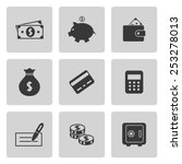 money icons set | Shutterstock .eps vector #253278013