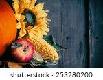 Fall Still Life Closeup With...