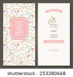 vintage vector card templates.... | Shutterstock .eps vector #253280668