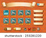 illustration of computer game... | Shutterstock .eps vector #253281220
