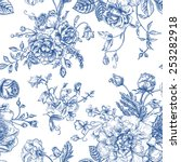 seamless vector vintage pattern ...
