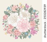 vintage elegant vector... | Shutterstock .eps vector #253282939