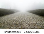 Paving Stone Road With Fog Ahead