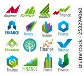 big set of vector logos finance | Shutterstock .eps vector #253294060
