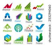 big set of vector logos finance | Shutterstock .eps vector #253294060