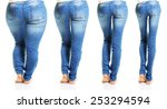 woman in blue jeans isolated on ...   Shutterstock . vector #253294594