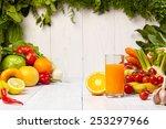 healthy vegetable juices for...   Shutterstock . vector #253297966