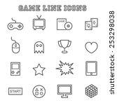 game line icons  mono vector...