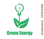 vector green energy white... | Shutterstock .eps vector #253312600