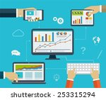 business infographics by using... | Shutterstock .eps vector #253315294