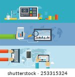 business infographics by using... | Shutterstock .eps vector #253315324