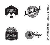 vintage vinyl badges   Shutterstock .eps vector #253317880