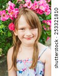 summer portrait of a cute... | Shutterstock . vector #253321810