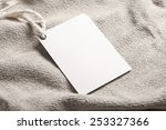 Cloth label tag blank white...