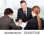 agent or notary public signing... | Shutterstock . vector #253337218
