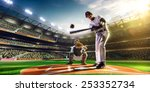two baseball player in action | Shutterstock . vector #253352734