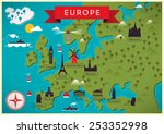 map of europe vector... | Shutterstock .eps vector #253352998