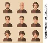 Vector Flat People Face  Avata...