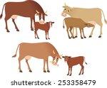 cows | Shutterstock .eps vector #253358479
